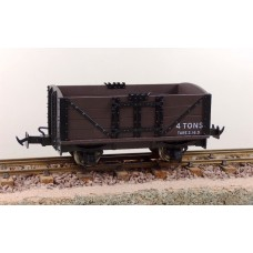 Lynton & Barnstable 4 wheel Brown data only open wagons