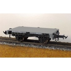 R19-4B – W & L FLAT WAGON LIGHT GREY, DATA ONLY
