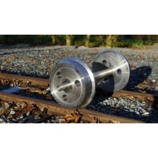 10 1/4 inch Gauge Axles x2 and wheels x4