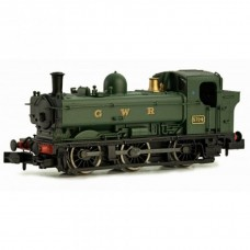2S-007-009D Pannier tank 5724 GWR green DCC Fitted